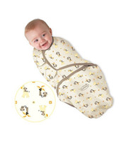 夏のスワッドリムベビー寝袋ベビースターサック乳幼児スワッドリングスリープバッグ幼児コットンラップバッグ近接