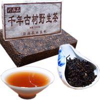 Promoción 1000 g de Yunnan antiguo árbol salvaje cocido Pu'er ladrillo Té Negro madura Puerh Shu Cha Health Care Puer