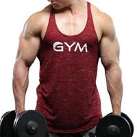 Running Vest Muscle GYM Men Fitness Sleeveless Canotta Bodybuilding Canotte Top da allenamento per allenamento Sport T Shirt Uomo Abbigliamento sportivo