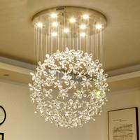 الفاخرة الكريستال الثريا الإضاءة لغرفة المعيشة فراشة كبيرة مصابيح الإضاءة للمنزل مصابيح الكريستال الحديثة