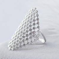 Mesh Net Finger Ring 2019 New Authentic 925 Sterling Silver Anelli a fascia regolabili per donna Uomo Fine Jewelry YMR466