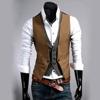 Vest Mens formale Business Casual Inverno smoking Layered Style Slim Arredata Gilet Vest