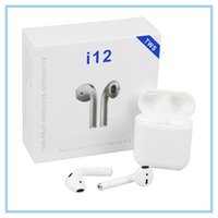 i12 tws bluetooth 5.0 casque sans fil bluetooth supporte la fenêtre pop-up Écouteurs coloré tactile contrôle casque sans fil écouteurs DHL chaud