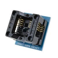 Cks 1 قطعة جديد وصول SOIC8 SO8 SOP8 إلى dip8 ic المقبس محول 150mil البرمجة محول المقبس