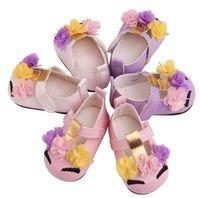 طفل جديد بنات الطفل زهرة يونيكورن أحذية PU أحذية جلدية لينة أحذية وحيد سرير الربيع الخريف الأولى مشوا GB1348