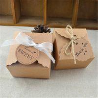 Düğün Şeker Kutuları Parti Hediye Sarma Kutuları Iyilik Kraft Kağıt Hediye Kutusu Çikolata Paketleme Kutusu Bebek Duş Parti Malzemeleri