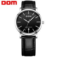 Dom watch casual waterproof vintage table ultra-thin male table fashion genuine leather strap table male watches M-259L-1M