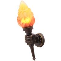 Yaratıcı Torch Duvar Işık Vintage Torch Taşıyıcı Duvar Lambası Endüstriyel Sanat Dekor Bar Loft Cafe Restaurant Retro Duvar Lambası Monteli