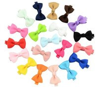 20 colori BB Girl Hair Bows Candy Colors 1.77 inch Bow Design Girl Barrettes Elegante accessorio per capelli Princess Girls