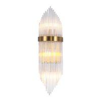 Luci da parete in cristallo di lusso in cristallo moderno Chrome Wandlamp Soggiorno decorazione della decorazione di cristallo LUCINDING WIDETER 23CM H75CM