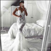 Sexy Mermaid dentelle blanche robes de mariée bon marché Turquie 2018 Zuhair Murad Sweetheart Vintage Robes de mariée Vintage