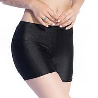 Дамы шорты Bivigaos Женские тонкие черные глянцевые тонкие блестящие короткие добычие полюс танцы женщины 3 цвета