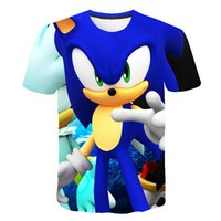 New T-shirt Japanese movie Sonic 3D printed short-sleeved summer promoHigh-quality Japanese tion fashion wild man collar short-sleeved shirt