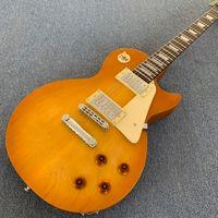 Custom shop LP Guitar 1959 R9 Cuerpo de caoba, Parte superior de chapa de arce, herrajes cromados, diapasón rosa, puente Tonepro.