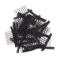 Accesorios peluca de la peluca del cordón por seis dientes de malla de acero garra Peine del acoplamiento del casquillo del resorte del clip