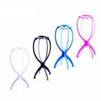 Bunte Perücken stehen tragbare flexible faltbare Perücke Halter-Träger-Display-Hals-Haar-Zubehör Kunststoff-Hut-Anzeigewerkzeug RRA1514