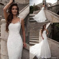 New Arrival Mermaid Wedding Dresses Sheer Sleeveless Illusio...