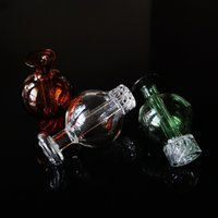 New Glass Spinning Carb Cap Dab Terp Pearls Carb Caps Quarz Banger Nägel Suitfor Schrägkante Glass Caps DCC016