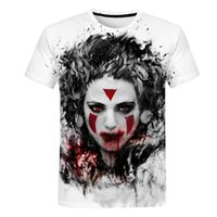 2019 New Design Men' s Skulls T Shirt Clown Print 3d T- s...