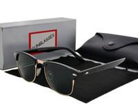 العلامة التجارية مصمم النظارات عالية الجودة المعادن المفصلي النظارات الشمسية الرجال النظارات النساء نظارات الشمس uv400 عدسة للجنسين مع الحالات الأصلية ومربع