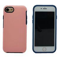 Luxury Symmetry Shockproof Case per iPhone 8 7 Plus 7 6 6S Plus Rugged Hybrid Armatura Cover per cellulare Cover per robot Armatura