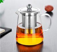 550 ml Clear calor resistente ao chá de vidro chaleira chaleira com infusor filtro chá frasco escritório escritório chá café ferramentas de café