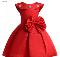 2019 Summer Girls Dress for Girls Wedding Bowknot Girl Dress...