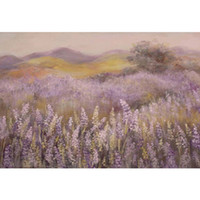 Oil Painting Lavender Field Newborn Baby Shower Backdrop Pri...
