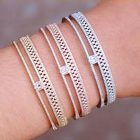 Sistemas de la joyería de moda para el anillo GODKI brazalete de novia de la boda Las mujeres circón cristal de la CZ Dubai Establece aretes de mujer Modernos 2020
