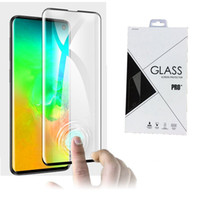Support Fingerprint Unlock Full Cover 3D Curved Tempered Gla...