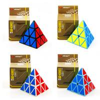 Cube Magique Forme De Pyramide Troisième Ordre Cube Professionnel Ultra-lisse Vitesse Cubo Magico Twist Puzzle DIY Éducatif Enfants Jouet Magic Cub