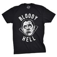 Mens Bloody Hell Tshirt Drôle Halloween Party Vampire Tee Pour Les Gars De Marque chemises jeans