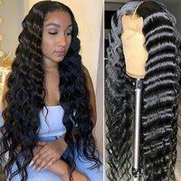 Brésil lâche vague 360 dentelle perruque de cheveux humains pour les femmes noires Pre plumées réel 100% Virgin Hair Swiss HD Medium Brown Lace