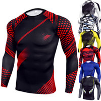 New Arrival Quick Dry Compression Shirt Long Sleeves Trainin...
