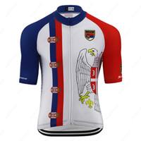 세르비아 국립 대표 국가 엠블럼 시원한 사이클링 저지 짧은 소매 남자 경주 MTB 자전거 옷 편안한 흡입 자전거 의류