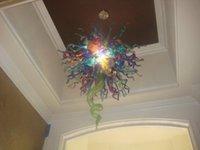 Lámpara cristalina moderna decoración del hogar Iluminación de hogares Chihuly Inspirado empotrar techo soplado hecho a mano pendiente de cristal