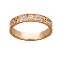 الأزياء التيتانيوم الصلب الفضة روز الذهب الحب الدائري حلقة الذهب لعشاق زوجين حلقة