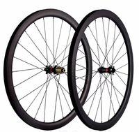 700C bicicleta de estrada de fibra de carbono conjunto de rodas 30 40 45 50 55C profundidade 25mm estrada freio a disco versão 411/412 hub, quatro-em-um de abertura