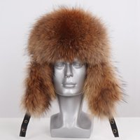 2019 New Winter Men Genuine Real Fox Fur Hat 100% Natural Re...