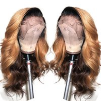 highlight Color Full Lace Front Human Hair Wigs with Baby Ha...