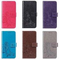 Klasik Çiçek Tahliye Deri Flip Case IPhone 11 Pro XR XS Max Kitap Stil Kart Yuvaları Standı Kapak IPhone 6 6S 7 8 Artı YY