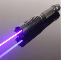 가장 강력한 빛, 천문 블루 레이저 토치 445nm 450nm 500000m 초점 레이저 시력 포인터 손전등 블루 레이저 펜 5 성급 캡