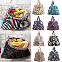 2019 New Fashion 1PC pieghevole Handy Shopping Bag riutilizzabile Tote Pouch Recycle Storage Borse 12 colori di stile