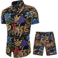 Mode Hommes-Été Designer Costumes Beach Seaside Shirts Shorts Vêtements de vacances Survêtements Floral Ensembles