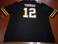 Men App State Mountaineers Zac Thomas #12 real Full embroide...