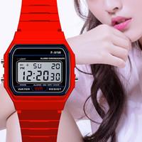 Moda Homens Led Watch Alarm Homens Feminino F91W Relógios F91W Fina Relógio Digital Relógio De Pulso Silicone