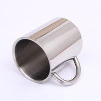 300ML 400ML الفولاذ المقاوم للصدأ طبقة مزدوجة القدح القهوة الكؤوس المحمولة كأس التخييم مع مقبض الفولاذ المقاوم للصدأ تسلق الجبال الأقداح DH1116-3 T03