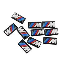 50 PCS / LOT Auto-Träger-Wheel Abzeichen M Sport 3D-Emblem-Aufkleber-Abziehbilder Logo für BMW M-Serie M1 M3 M5 M6 X1 X3 X5 X6 E34 E36 E6 Car Styling