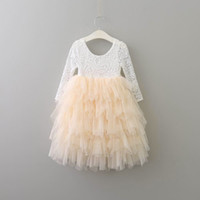 Everweekend Girls Princess Tutu Cake Dress Mesh Ruffles Princess Flower Tiered Tulle Maxi Dress Holiday Christmas Dress
