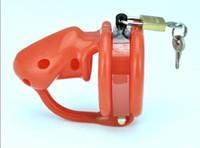 Dispositivo per cintura di castità in silicone rosso con chiusura a strappo Bondage a gabbia morbida a spillo AU79